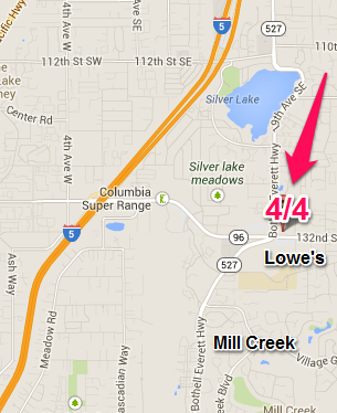 Map to Everett / Mill Creek 4/4 School of Music